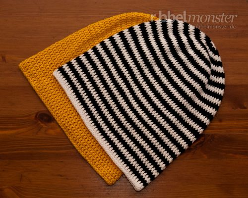 Crochet Hat – Long Beanie with Double Crochet Stitches