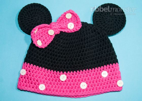 "Crochet Hat – Crochet ""Minnie"" Mouse Hat"