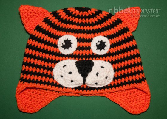 "Crochet Tiger Hat ""Toni"""
