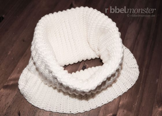 Crochet Simple Collar Scarf without Increases & Decreases
