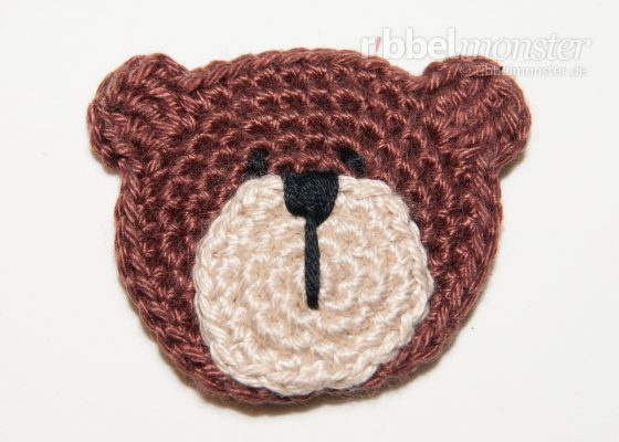 "Patch – Crochet Small Teddy Bear ""Bertram"""