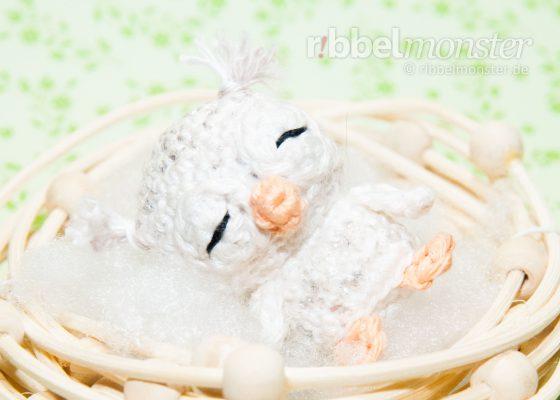 "Amigurumi – Minimee Crochet Baby Snow Owl ""Dana"""