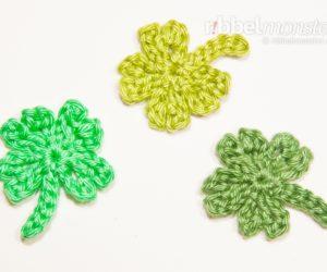 Crochet 4 Leaf Clover - Gli - FOC Tutorial - Free Crochet Pattern