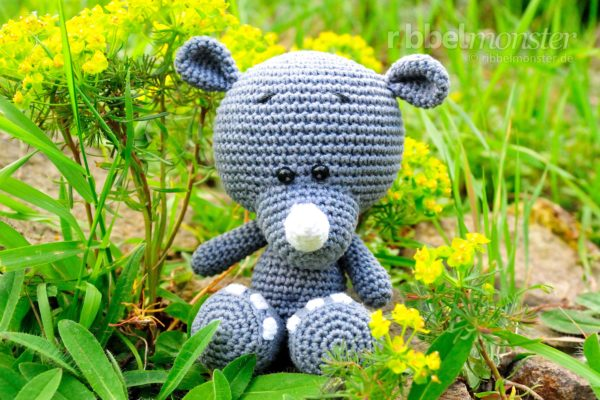 "Amigurumi – Crochet Rhino ""Piko"""