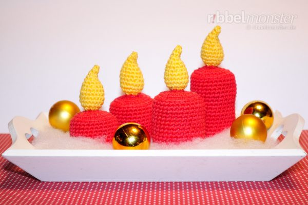 "Amigurumi – Crochet Smaller Candles ""Stomp"""