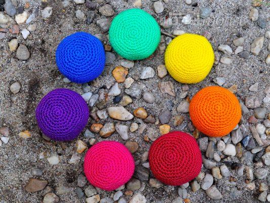 "Crochet Simple Footbag ""uni"" – Hackysack, Juggling Ball, Stress Ball"