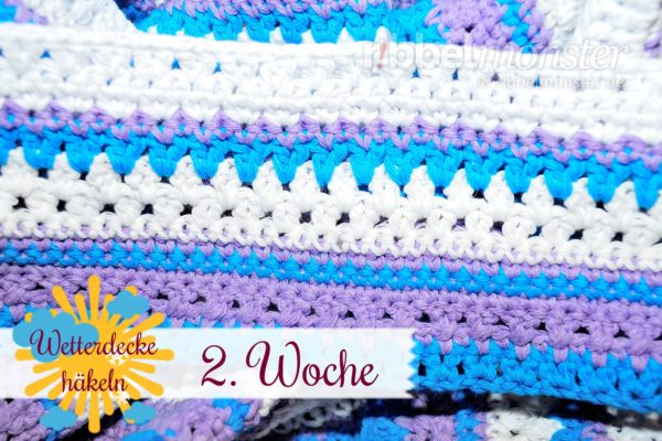 Crochet Weather Blanket – CAL – 2nd Week