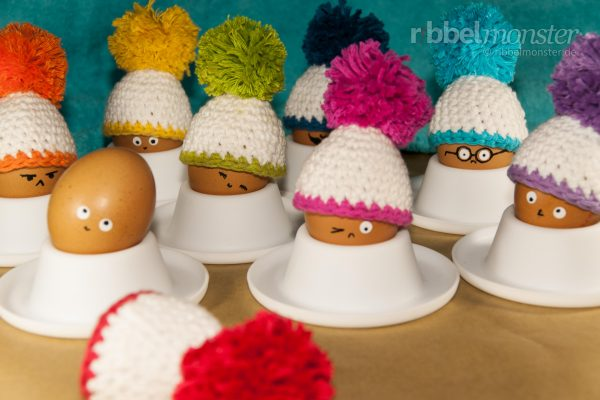 "Crochet Egg Warmer ""Bobbin Beanie BigBobble"""