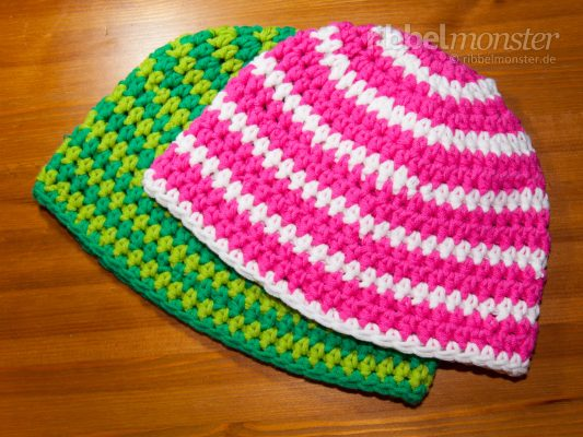 Crochet Hat – Beanie with Half Double Crochet Stitches in Circle Rounds