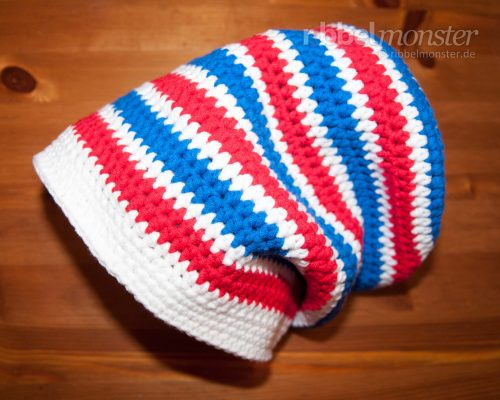 Crochet Hat – Longbeanie with Half Double Crochet Stitches