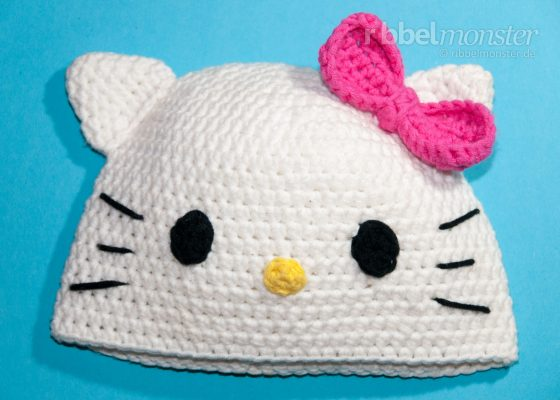 "Crochet Hat – Cat Beanie ""Kitty"