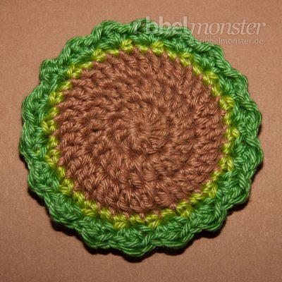 "Crochet Button – Basic Pattern ""Woody"""