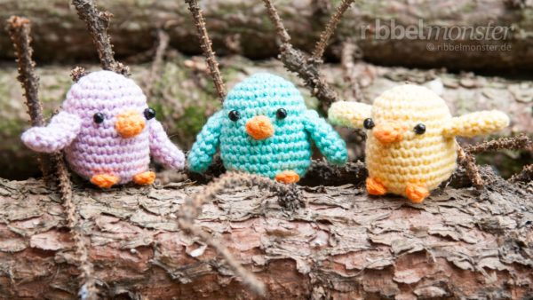 "Amigurumi – Crochet Little Birds ""Schirp"""