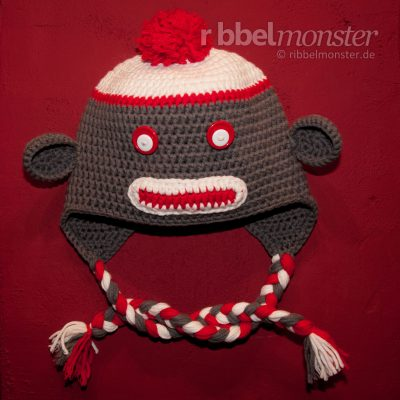 "Crochet Sock Monkey Hat ""Sockmonkey"""