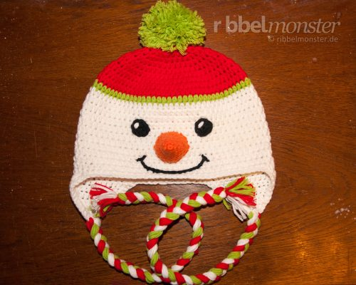 "Crochet Snowman Hat ""Frosty"""