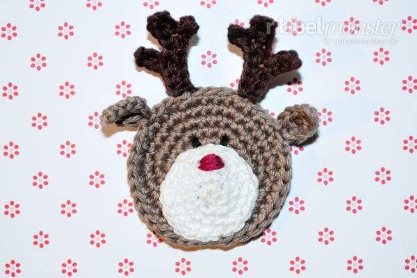"Patch – Crochet Small Reindeer ""Rudi"""