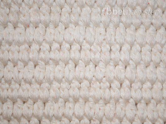 Gliederstich häkeln – tiefere ganze Stäbchen in Reihen