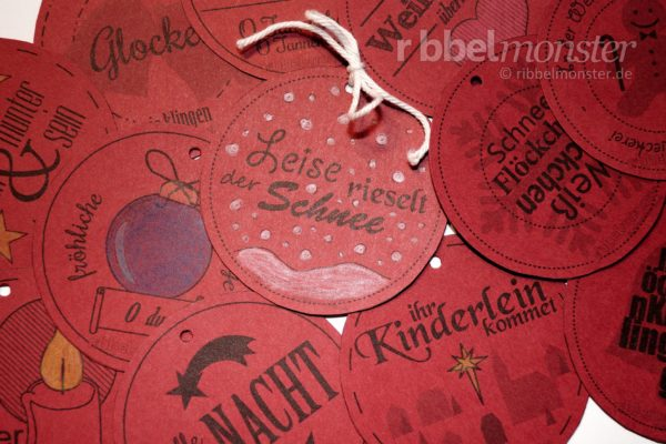 "Printable – Buttons ""German Christmas Songs"""