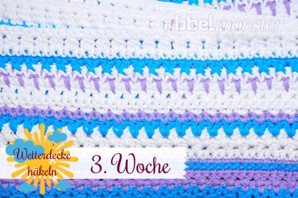 Crochet Weather Blanket – CAL – 3rd Week