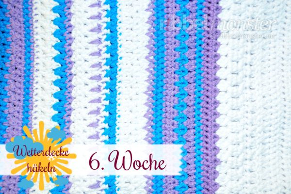 Crochet Weather Blanket – CAL – 6th Week