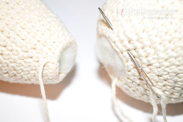 Amigurumi – Sew Open Parts Together