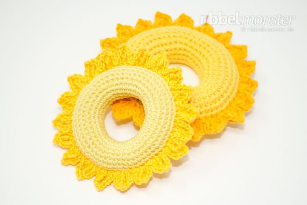 "Crochet Baby Teether ""Sunshine"""